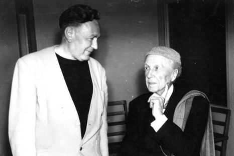Bruce Goff and Frank Lloyd Wright, Courtesy of Goff Archive, Ryerson & Burnham
