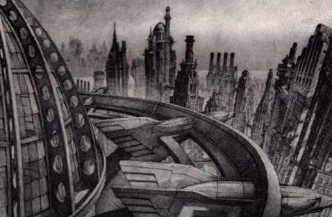 Anton Furst's Sketches for Batman, Gotham City